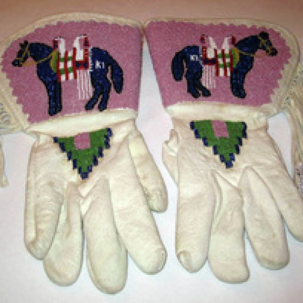Nez Perce Beaded Horse Gauntlets