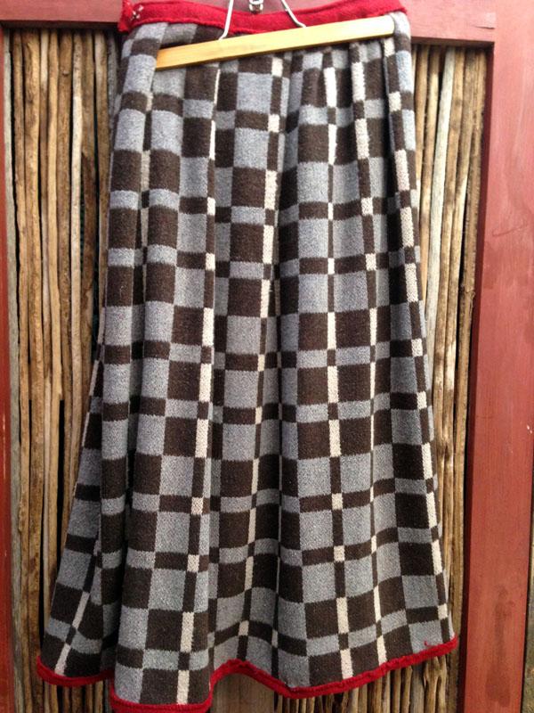 1900 - 1920s Ute Wool Skirt