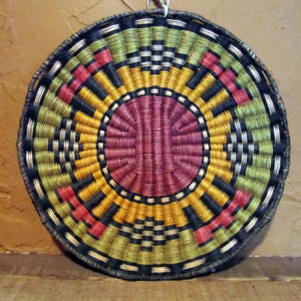 1930s - 1940s Hopi Vegetal Dyed Plaque