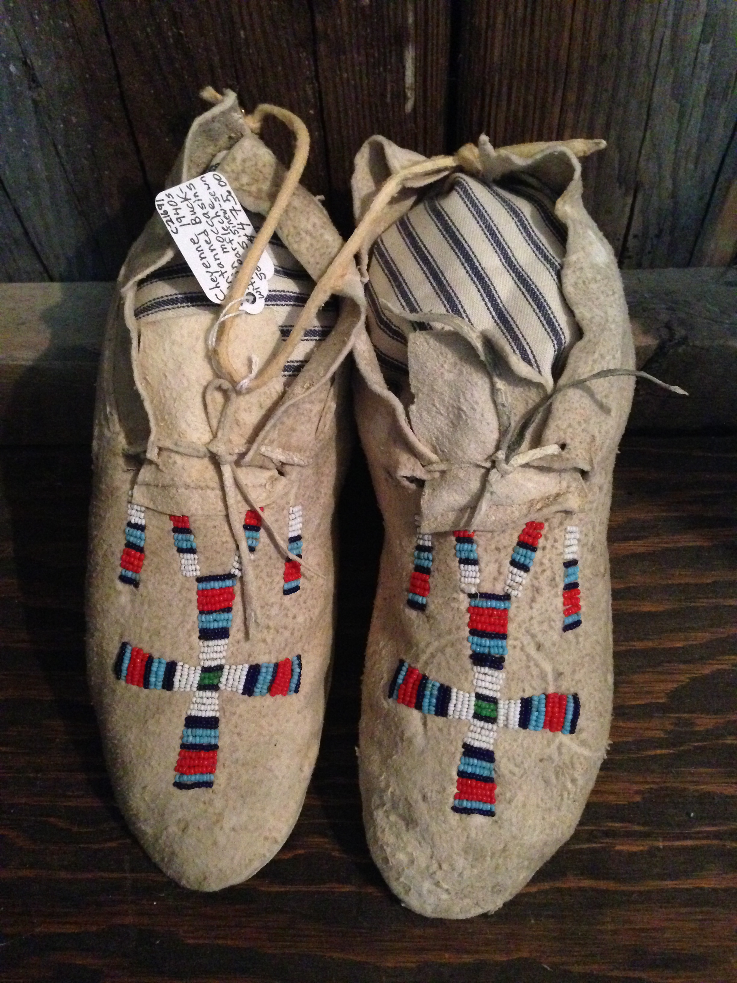 1940s Cheyenne Beaded Moccasins