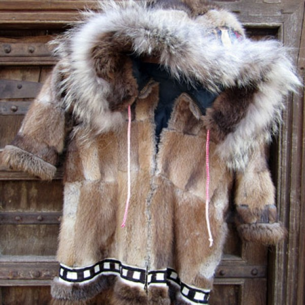 Eskimo Child's Muskrat Parka