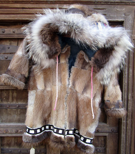 Eskimo Child's Muskrat Parka