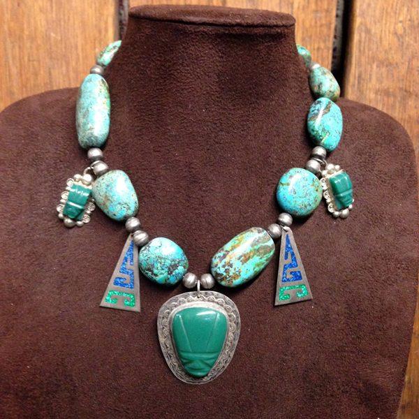 Vintage Aztec Charm Necklace