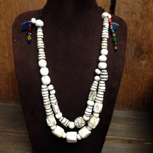 Old Bhutan Bone Bead Necklace
