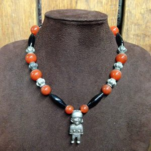 Pre-Colombian Indian Figure Pendant Necklace