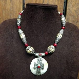 Tibetan Bone Amulet Necklace