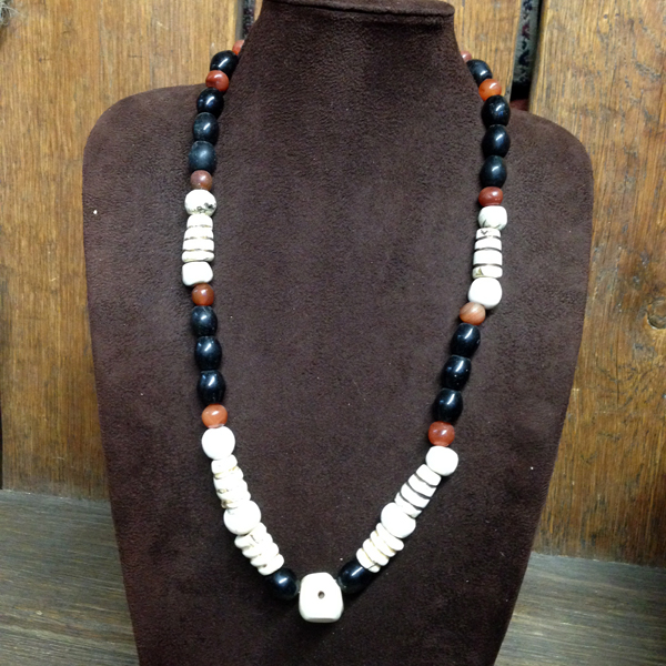 Single Strand Old Bhutan Beads Necklace