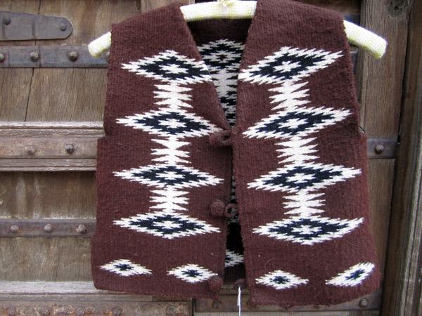 Navajo Boy's Rug Vest
