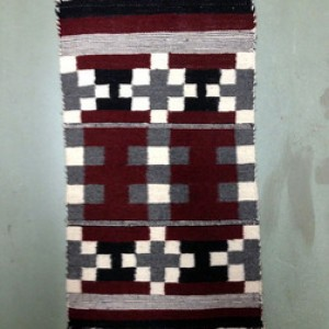 Navajo Red, Black, Grey Rug