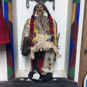 Old Mandan Beaded Buckskin Doll