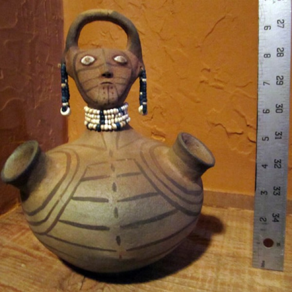 Old Maricopa Effigy Pot