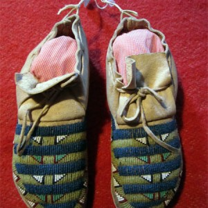 Old Sioux Beaded Moccasins