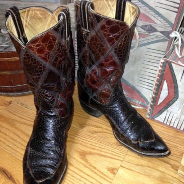 Vintage Tony Lama Lizard Skin Boots