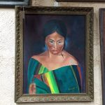 Saltillo Wearing Woman Original Oil