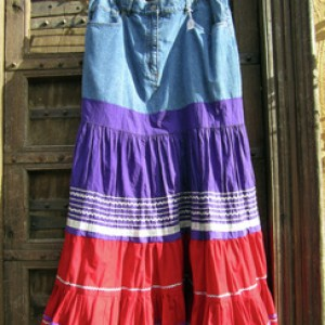 Purple & Red Fiesta Skirt