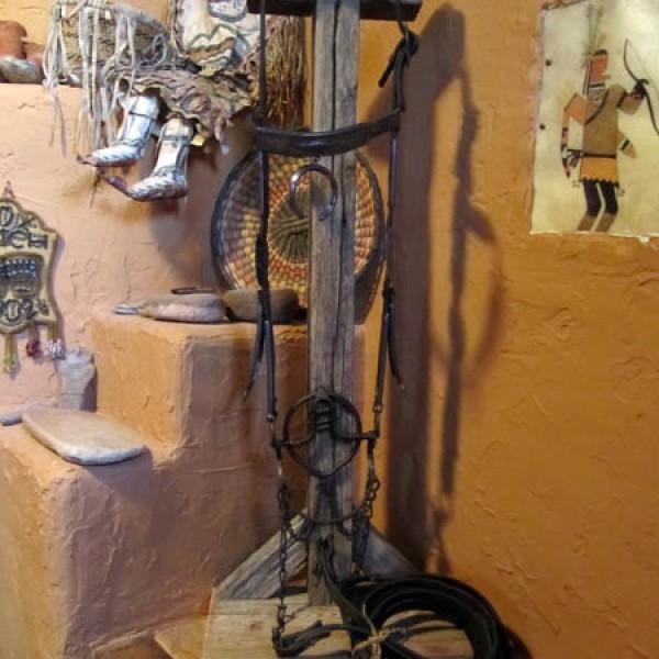 1900 - 1920s Navajo Silver Ingot Headstall & Ring Bit