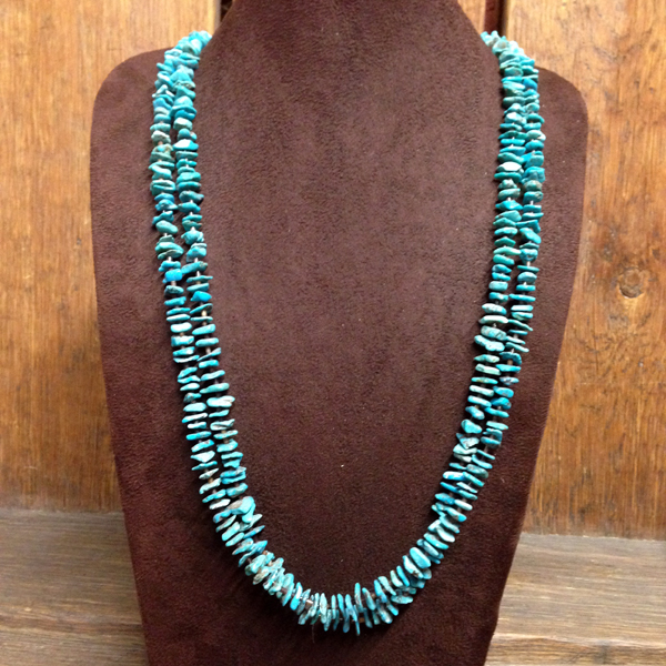 Two Stranded Turquoise Nugget Necklace