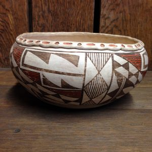 1940s Acoma Decorated Rim Bowl