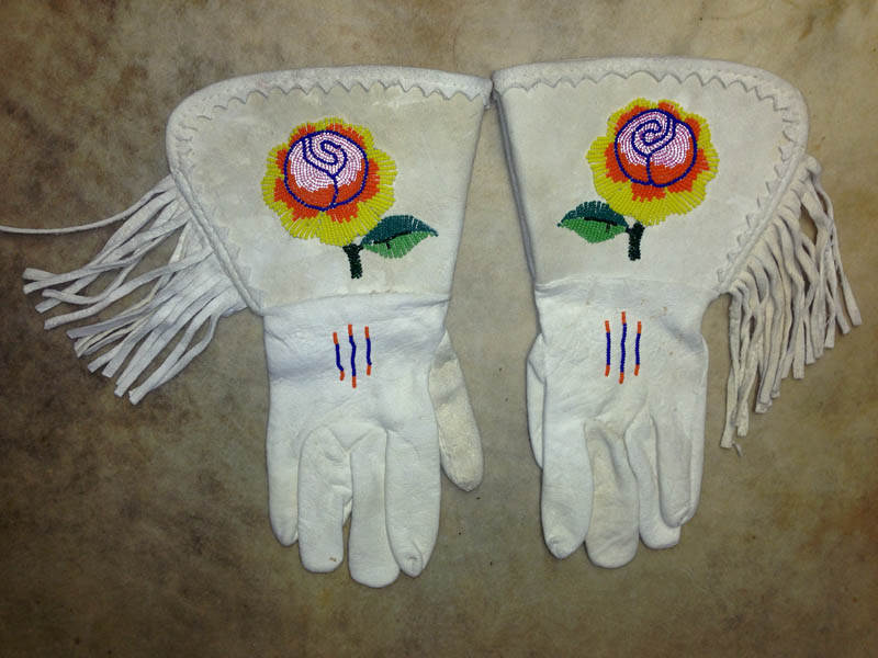 1960s Shoshone Beaded Gauntlets