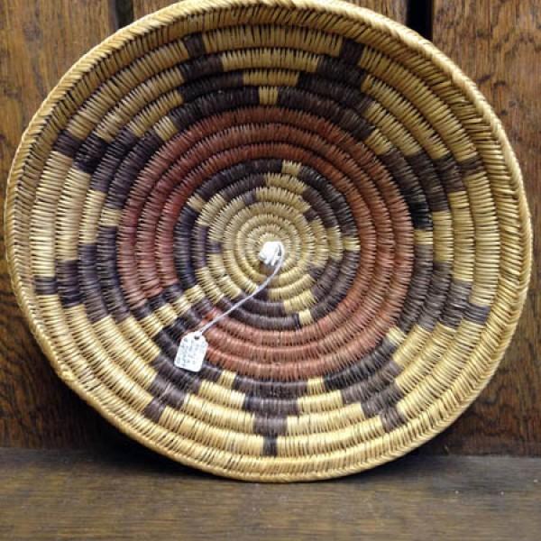 Old Navajo 9 Point Polychrome Basket