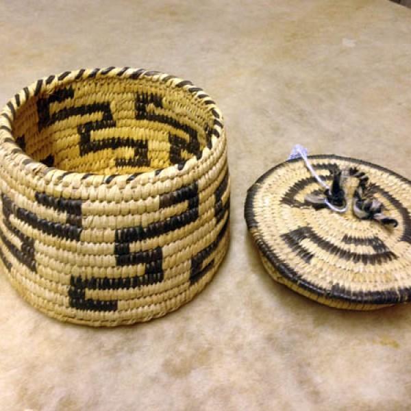 1930s Papago Lidded Basket