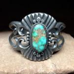 Large Kings Manassa Turquoise Sandcast Bracelet