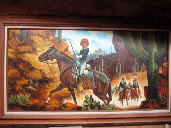 Cavalry, Saguaros Original Oil Painting