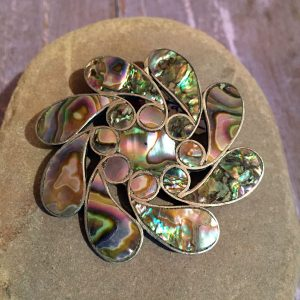 1930s Taxco Large Abalone Pin