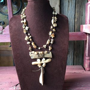 Fossilized Walrus Ivory Necklace