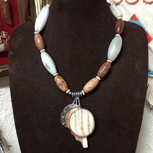 Fossilized Mammoth Tooth Pendant Necklace