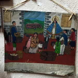 1948 Tin Retablo Painting