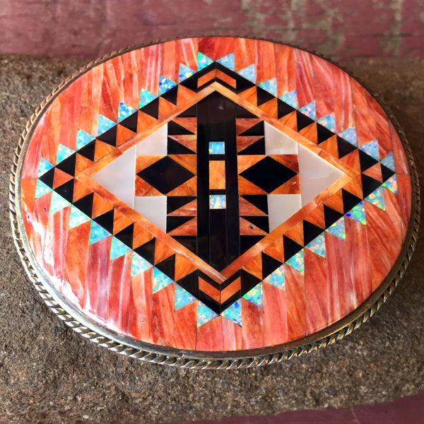Sterling Inlay Buckle