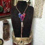Quilled Buffalo Head Bolo Tie