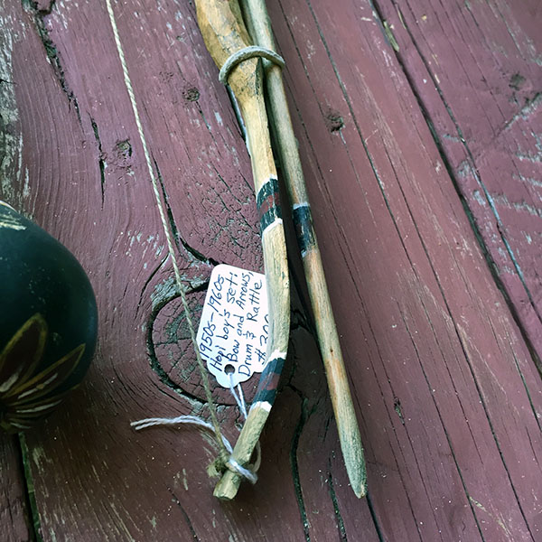 1950s Hopi Boys Set Of Bow and Arrows, Drum and Rattle 5