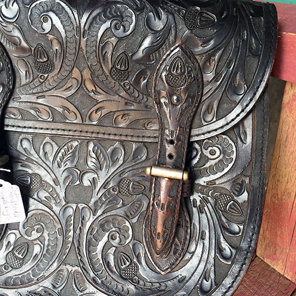 Old Hand Tooled Saddle Bag 10