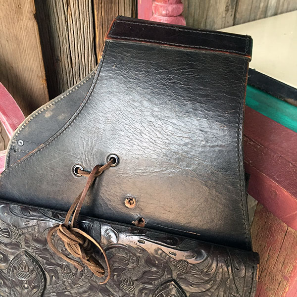 Old Hand Tooled Saddle Bag 2