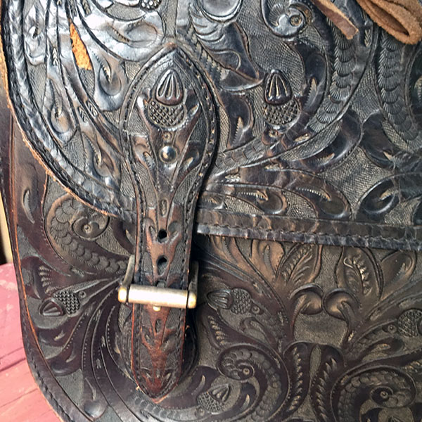 Old Hand Tooled Saddle Bag 5