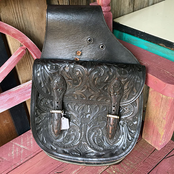 Old Hand Tooled Saddle Bag 6