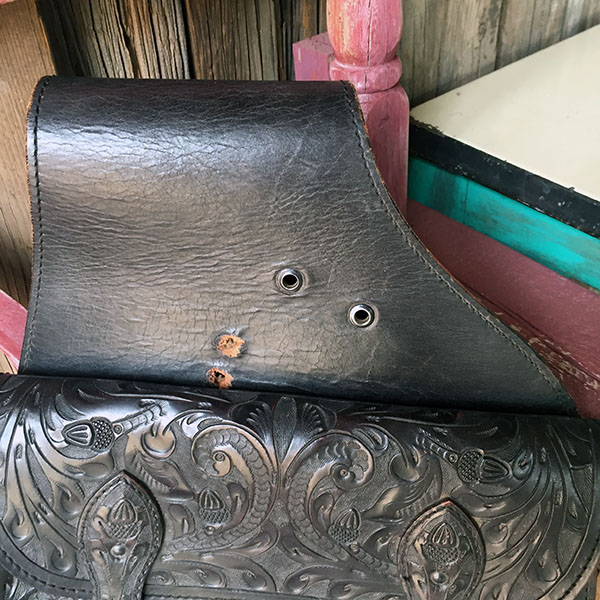 Old Hand Tooled Saddle Bag 7