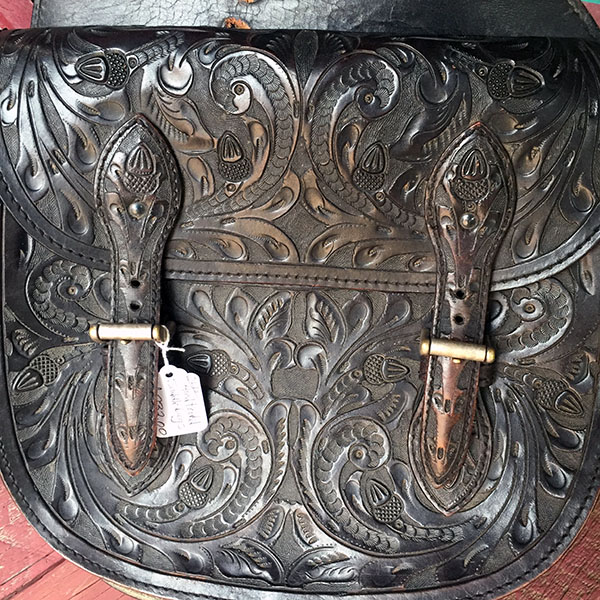 Old Hand Tooled Saddle Bag 8