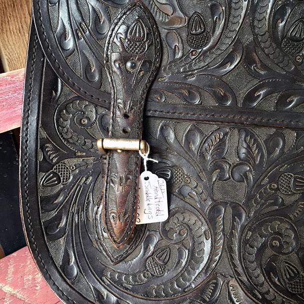 Old Hand Tooled Saddle Bag 9