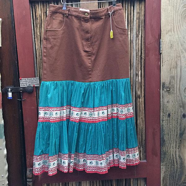 1940s Fiesta Skirt, Denim Top