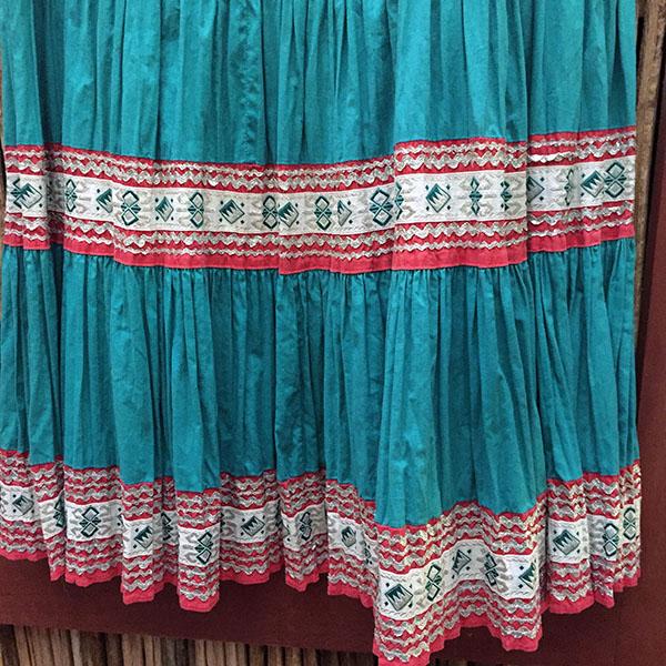 1940s Fiesta Skirt On Denim Top 11
