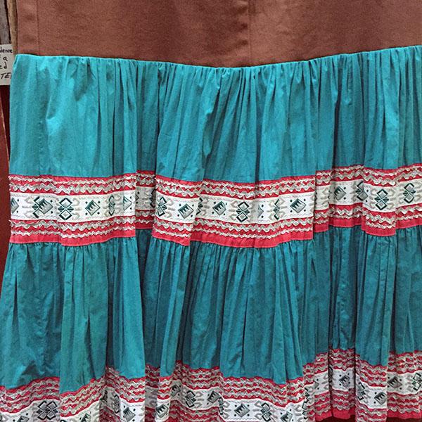 1940s Fiesta Skirt On Denim Top 3