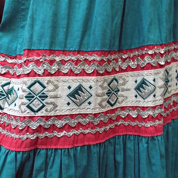 1940s Fiesta Skirt On Denim Top 6