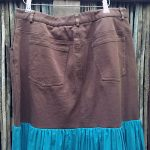 1940s Fiesta Skirt On Denim Top 8