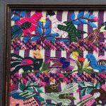 1950s Framed Mayan Huipil Textile Remnant