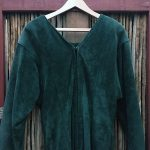 Doleman Sleeved Green Suede Leather Dress 2