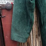 Doleman Sleeved Green Suede Leather Dress 5