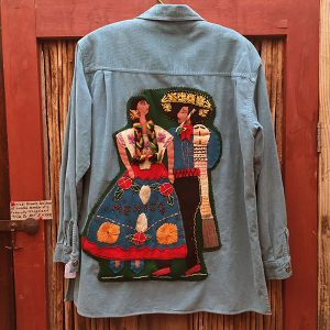 1930s Mexican Wool Jacket, Appliqued Man & Woman